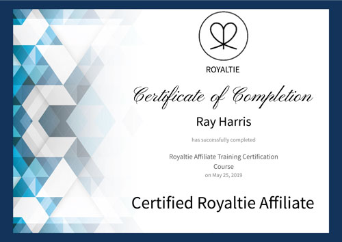 Ray A Harris Certified Royaltie Affiliate